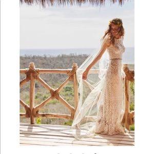 Tadash Shoji peridot gown